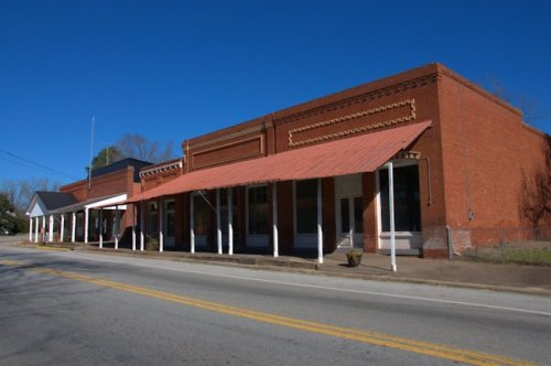 Bartow GA Jefferson County Restored Commercial Block Photograph Copyright Brian Brown Vanishing South Georgia USA 2014