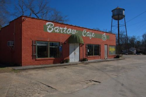 Bartow GA Old Cafe Coffee Cup Sign Old Water Tower Photograph Copyright Brian Brown Vanishing SOuth Georgia USA 2014