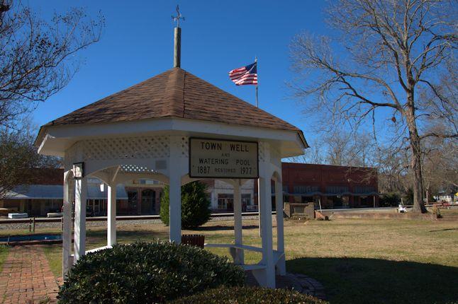 Bartow GA Town Well Gazebo Local History Photograph Copyright Brian Brown Vanishing South Georgia USA 2014