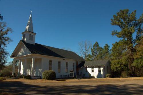 Bartow Methodist Church Shingle Steeple Jefferson County GA Photograph Copyright Brian Brown Vanishing South Georgia USA 2014