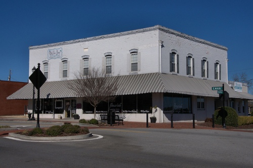 East Main Street Historic District Statesboro GA Commercial Architecture Photograph Copyright Brian Brown Vanishing South Georgia USA 2014