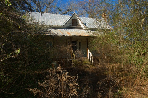 Folk Victorian Farmhouse Bulloch County GA Overgrown Forgotten Photograph Copyright Brian Brown Vanishing South Georgia USA 2014