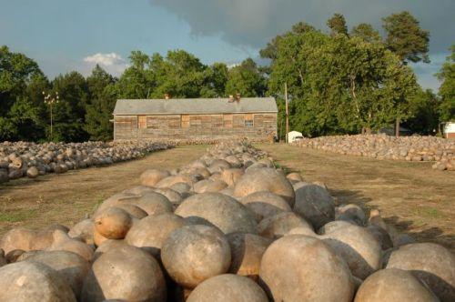 Lena Braswells Gourd Farm Display Wrens GA Jefferson County Photograph Copyright Brian Brown Vanishing South Georgia USA 2014