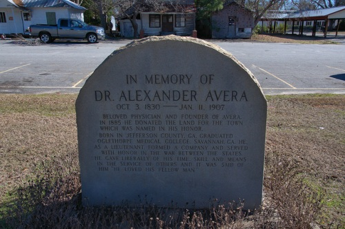 Lieutenant Dr. Alexander Avera Memorial Avera GA Jefferson County Photograph Copyright Brian Brown Vanishing South Georgia USA 2014