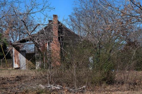 Lockhart GA Bulloch County Early Vernacular House on High Piers Photograph Copyright Brian Brown Vanishing South Georgia USA 2014