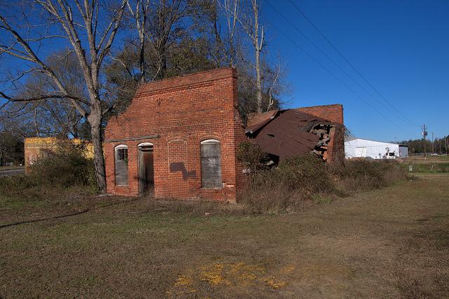 nevils ga shearwood railroad depot photograph copyright brian brown vanishing south georgia usa 2014