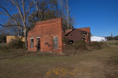 nevils ga shearwood railroad depot photograph copyright brian brown vanishing south georgia usa 2014