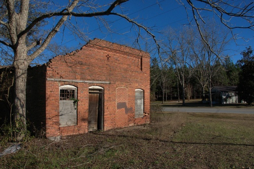 nevils ga shearwood railroad depot ruins photograph copyright brian brown vanishing south georgia usa 2014