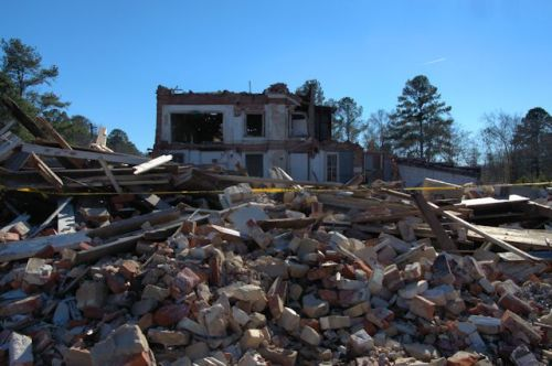 Ruins of Stapleton Denton Hardware Grocery Master Trouser Garment Factory Photograph Copyright Brian Brown Vanishing South Georgia USA 2014