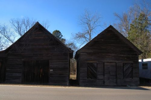 Stapleton GA Abandoned Agricultural Warehouses Endangered Rural Architecture Photograph Copyright Brian Brown Vanishing South Georgia USA 2014