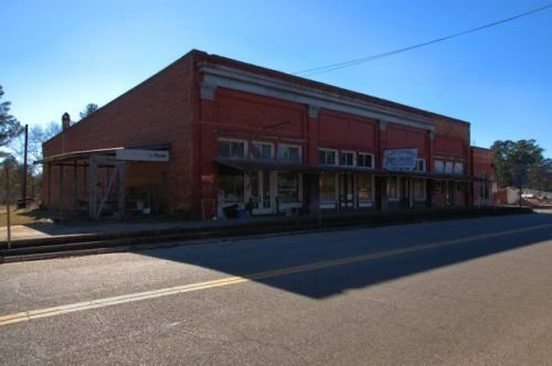 Stapleton GA Commercial Architecture Stores Mercantiles Hardware Historic Downtown Photograph Copyright Brian Brown Vanishing South Georgia USA 2014