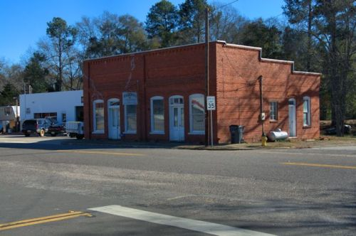Stapleton GA Jefferson County Early 20th Century Old Post Office Commercial Storefront Architecture Photograph Copyright Brian Brown Vanishing South Georgia USA 2014