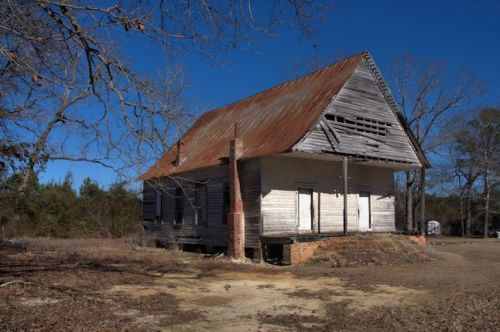 Unidentified Country Church Jefferson County GA Photograph Copyright Brian Brown Vanishing South Georgia USA 2014