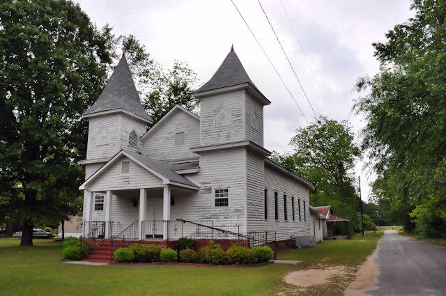 Wadley GA Jefferson County Twin Steeple African American Church Photograph Copyright Brian Brown Vanishing South Georgia USA 2014