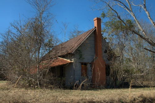 Abandoned Farmhouse Tar Paper Goldsboro GA Photograph Copyright Brian Brown Vanishing South Georgia USA 2014