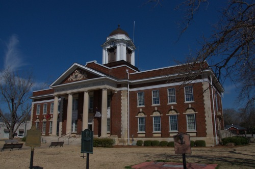 Blecklely County Courthouse Cochran GA Photograph Copyright Brian Brown Vanishing South Georgia USA 2014