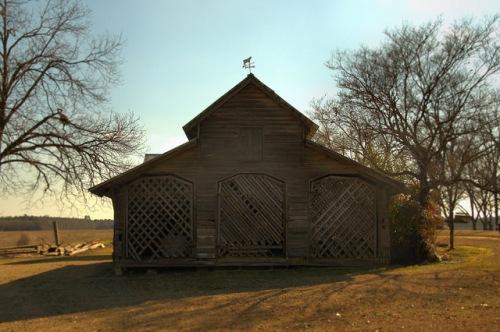 Brinson Homeplace Barn with Trellis Doors Photograph Copyright Brian Brown Vanishing South Georgia USA 2014