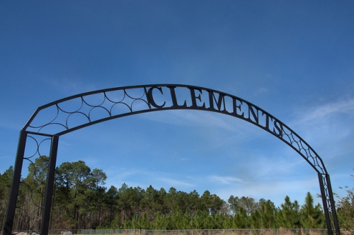 Clements Cemetery Big Creek Church Road Entrance Arch Irwin County GA Photograph Copyright Brian Brown Vanishing South Georgia USA 2014