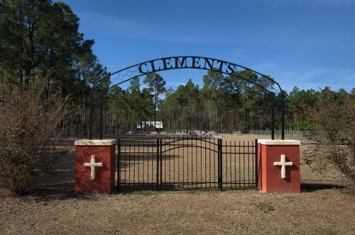 Clements Cemetery Big Creek Church Road Irwin County GA Photograph Copyright Brian Brown Vanishing South Georgia USA 2014