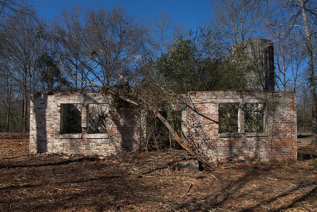 Coleman Dairy Ruins Swainsboro GA Emanuel County Office Silos Photograph Copyright Brian Brown Vanishing South Georgia USA 2014