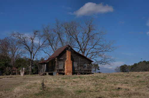 Cracker Style Vernacular Farmhouse Cochran GA Photograph Copyright Brian Brown Vanishing South Georgia USA 2014