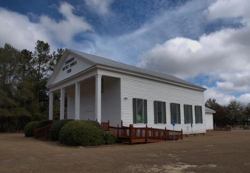 Evergreen Baptist Church Bleckley County GA Antbellum Landmark Photograph Copyright Brian Brown Vanishing South Georgia USA 2014
