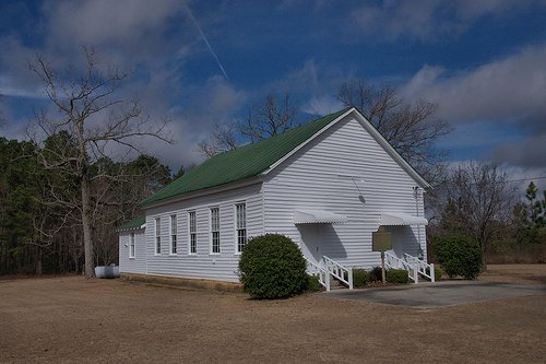 Longstreet Methodist Church Bleckley County GA Landmark Photograph Copyright Brian Brown Vanishing South Georgia USA 2014