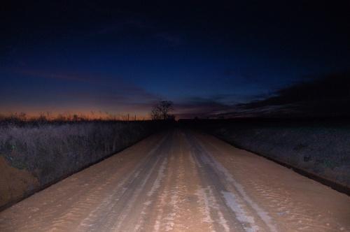 Night on a Dirt Road Wilcox County GA Photograph Copyright Brian Brown Vanishing South Georgia USA 20134