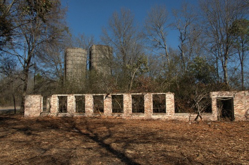 Ruins of Coleman Dairy Operation Swainsboro GA Photograph Copyright Brian Brown Vanishing South Georgia USA 2014