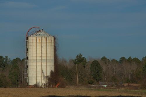 Silo Grain Storage Farm Candler County GA Photograph Copyright Brian Brown Vanishing South Georgia USA 2014