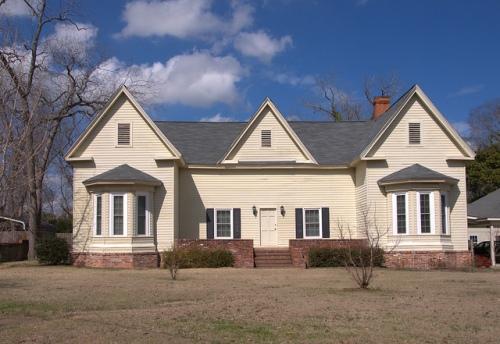 Triple Gable House Hawkinsville GA Photograph Copyright Brian Brown Vanishing South Georgia USA 2014