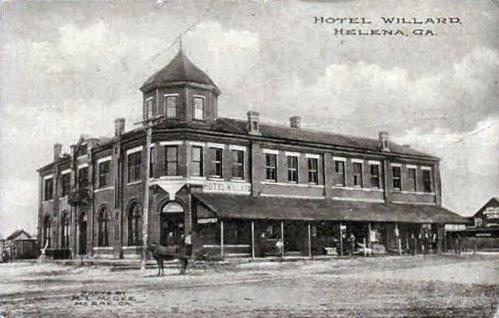 Antique Postcard of Hotel Willard Telfair Hotel Helena GA Courtesy and Credit to Danny Harbin via Julian Williams Vanishing South Georgia 2014