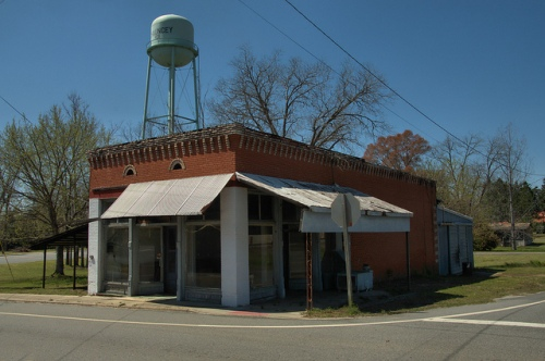 Chauncey GA Dodge County Old General Merchandise Store Photograph Copyright Brian Brown Vanishing South Georgia USA 2014