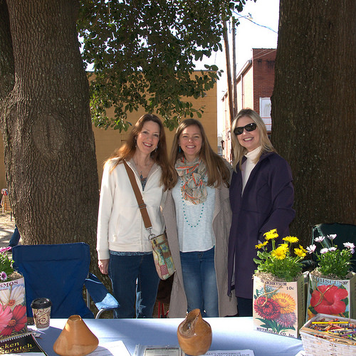 Fitzgerald GA Wild Chicken Festival Artisan Market Laura Wiggins Norris Jennifer Glenn Gina Wiggins Photograph Copyright Brian Brown Vanishing South Georgia USA 2014