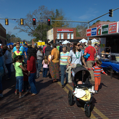 Fitzgerald GA Wild Chicken Festival Main Street Crowds Photograph Copyright Brian Brown Vanishing South Georgia USA 2014