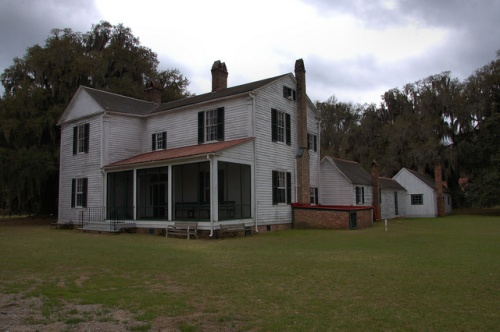 Hofwyl Broadfield Plantation Main House Antebellum Vernacular Architecture Old Days Photograph Copyright Brian Brown Vanishing South Georgia USA 2014