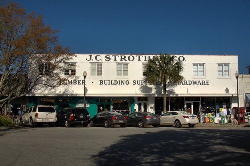 J C Strother Company Hardware Store The Village St Simons Island GA Photograph Copyright Brian Brown Vanishing South Georgia USA 2014