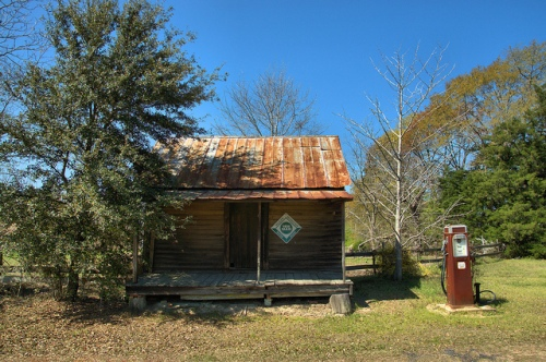 Jordan GA Wheeler County Ghost Town Old Country Store Filling Station Photograph Copyright Brian Brown Vanishing South Georgia USA 2014