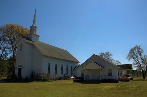 Spring Hill United Methodist Church Wheeler County GA Photograph Copyright Brian Brown Vanishing South Georgia USA 2014