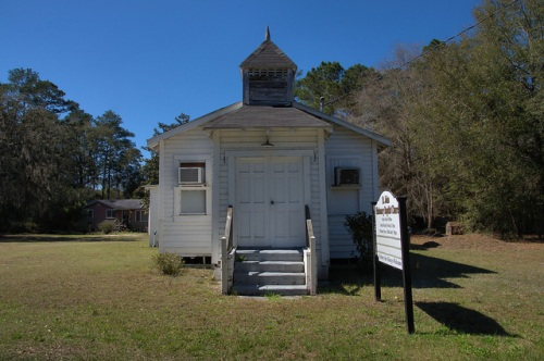 St John Missionary Baptist Church Camden County GA Photograph Copyright Brian Brown Vanishing South Georgia USA 2014