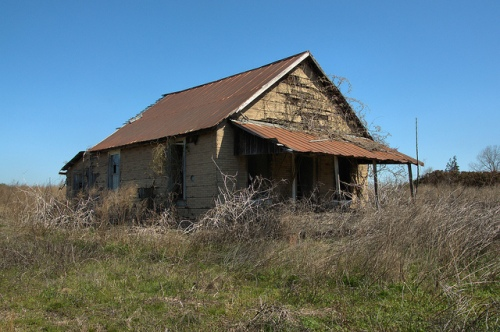 Tar Paper Tenant Farmhouse Rural Abandonment Agricultural Architecture Jordan GA Wheeler County Photograph Copyrigh Brian Bown Vanishing South Georgia USA 2014