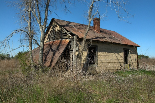 Tar Paper Tenant Farmhouse Rural Abandonment Jordan GA Wheeler County Photograph Copyrigh Brian Bown Vanishing South Georgia USA 2014