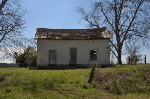 Abandoned Farmhouse Irwin County GA Photograph Copyright Brian Brown Vanishing South Georgia USA 2014