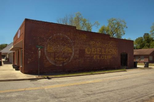 Ballard's Obelisk Flour Ghost Mural Pembroke GA Bryan County Photograph Copyright Brian Brown Vanishing South Georgia USA 2014