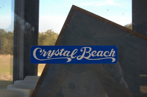 Crystal Beach Irwin County GA Bumper Sticker Ticket Window Photograph Copyright Brian Brown Vanishing South Georgia USA 2014
