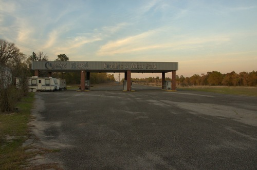 Crystal Lake Irwin County GA Crystal Beach Entrance Gates Photograph Copyright Brian Brown Vanishing South Georgia USA 2014