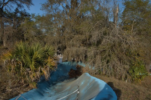 Crystal Lake Irwin County GA Old Water Slide in Natural Setting Photograph Copyright Brian Brown Vanishing South Georgia USA 2014