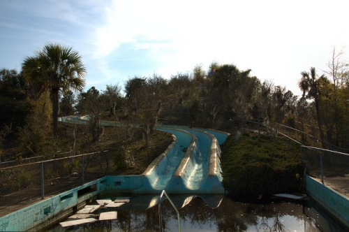 Crystal Lake Irwin County GA Old Water Slide Recreation Amusement Park Natural Attraction Photograph Copyright Brian Brown Vanishing South Georgia USA 2014