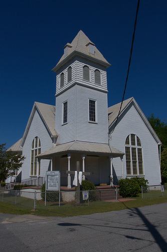 Guyton Christian Church Effingham County GA Photograph Copyright Brian Brown Vanishing South Georgia USA 2014