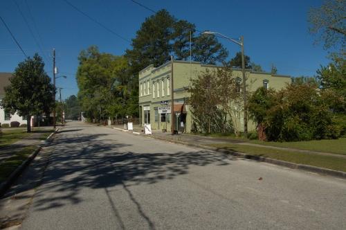 Guyton GA Effingham County Pine Street Old Bank Post Office City Hall Photograph Copyright Brian Brown Vanishing South Georgia USA 2014